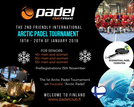 2nd Arctic padel tournament 45+. Vi søger spillere