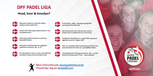 Read more about the article Padel liga for hold – ændring